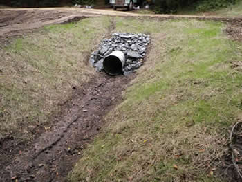 culvert replaced underneath eroding road