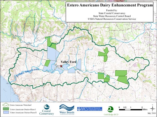 Estero Americano Dairy Enhancement Program map